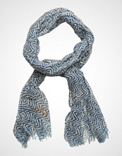 Scotch & Soda Allover Printed Woolen Scarf Skjerf Blå SCOTCH & SODA