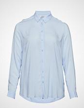 Violeta by Mango Flowy Shirt Langermet Skjorte Blå VIOLETA BY MANGO