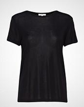 Dagmar Upama Rib Top T-shirts & Tops Short-sleeved Svart DAGMAR