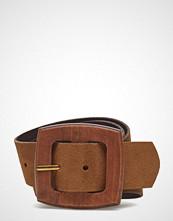 Mango Wood Buckle Leather Belt