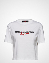 Karl Lagerfeld Karl Lagerfeld-Karl X Kaia Cropped T-Shirt