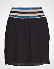 Scotch & Soda Pleated Skirt With 'Maison Scotch' Elastic Waistband Kort Skjørt Svart SCOTCH & SODA