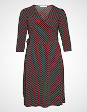 Violeta by Mango Striped Wrap Dress