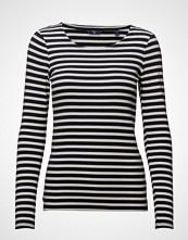 Gant 1x1 Rib Ls T-Shirt T-shirts & Tops Long-sleeved Blå GANT