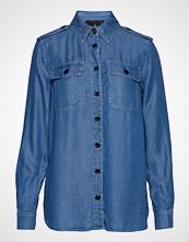 Designers Remix Camden Shirt Langermet Skjorte Blå DESIGNERS REMIX