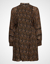 Scotch & Soda Sheer Printed Dress With Voluminous Sleeves