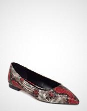 Mango Snake-Effect Maryjane Shoes