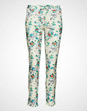 Please Jeans Chino Filetto Blu Flowers