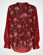 Scotch & Soda Relaxed Fit Mixed Fabric And Printed Shirt