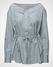 French Connection Serrana Strp Mix Long Slevve Shirt Langermet Skjorte Blå FRENCH CONNECTION