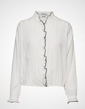 Scotch & Soda Drapy Feminine Shirt Langermet Skjorte Hvit SCOTCH & SODA