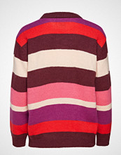 Saint Tropez Block Stripes Sweater Strikket Genser Rød SAINT TROPEZ