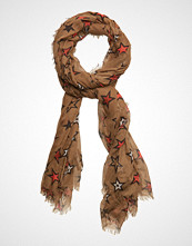 Scotch & Soda Lightweight Scarf In Various Dessins Skjerf Brun SCOTCH & SODA