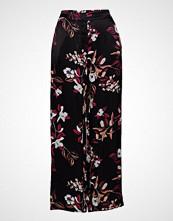 Bruuns Bazaar Flora Cosa Pant Vide Bukser Svart BRUUNS BAZAAR