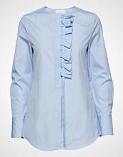 3.1 Phillip Lim Ls Shirt W Front Ruffle Langermet Skjorte Blå 3.1 PHILLIP LIM