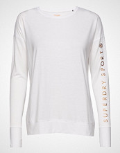 Superdry Sport Active Studio Luxe L/S Top T-shirts & Tops Long-sleeved Hvit SUPERDRY SPORT