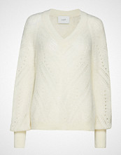 Just Female Garla Knit Strikket Genser Creme JUST FEMALE