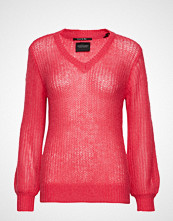 Scotch & Soda Fluffy V-Neck Knit In Special Stitch Strikket Genser Rosa SCOTCH & SODA
