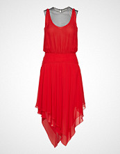 Karl Lagerfeld Silk Ggt & Mesh Evening Dress Kort Kjole Rød KARL LAGERFELD