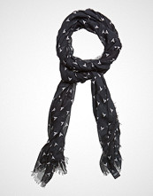 Scotch & Soda Allover Printed Scarf Skjerf Svart SCOTCH & SODA