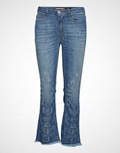 Please Jeans Shortcut Laser Print Slim Jeans Blå PLEASE JEANS