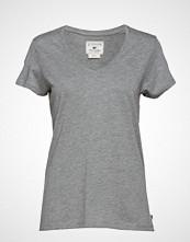 Lexington Clothing Becka V-Neck Tee T-shirts & Tops Short-sleeved Grå LEXINGTON CLOTHING