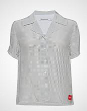 Calvin Klein Faux Silk Short Slee
