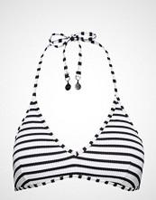 Polo Ralph Lauren Swimwear Pique Stripe Mold Cup W Logo Hook Back