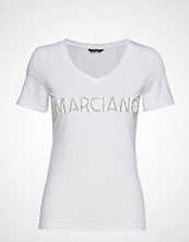 Marciano by GUESS Logo Patch Crystal Tee T-shirts & Tops Short-sleeved Hvit MARCIANO BY GUESS