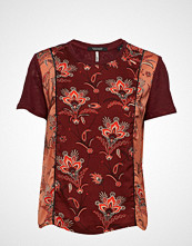 Scotch & Soda Mixed Print Top With Jersey Back And Sleeves