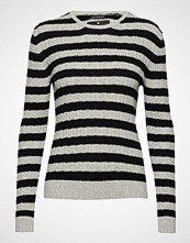 Superdry Luxe Mini Cable Knit Strikket Genser Hvit SUPERDRY
