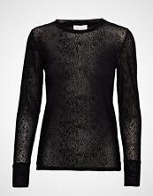 Second Female Gilli Ls Tee T-shirts & Tops Long-sleeved Svart SECOND FEMALE