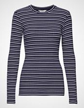 Mads Nørgaard 5x5 Cool Stripe Tuba S T-shirts & Tops Long-sleeved Blå MADS NØRGAARD