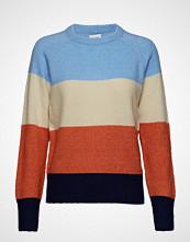 Saint Tropez Knit Sweater Striped Strikket Genser Multi/mønstret SAINT TROPEZ