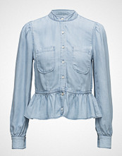 FRAME Double Pocket Denim Blouse