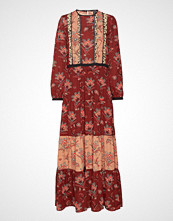 Scotch & Soda Mixed Print Maxi Dress With Ladder & Ruffle Details