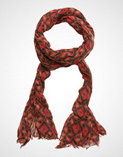 Scotch & Soda Allover Printed Woolen Scarf Skjerf Rød SCOTCH & SODA
