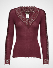 Rosemunde Silk T-Shirt Regular Ls W/ Lace