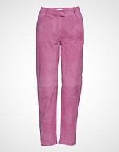 Just Female Came Suede Trousers Bukser Med Rette Ben Rosa JUST FEMALE