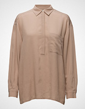 Filippa K Crinkle Silk Pull On Blouse