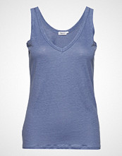 Filippa K Deep V-Neck Linen Tank T-shirts & Tops Sleeveless Blå FILIPPA K