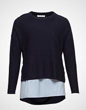 Violeta by Mango Shirt Hem Sweater Strikket Genser Blå VIOLETA BY MANGO