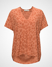 Rabens Saloner Bright Leopard Blouse T-shirts & Tops Short-sleeved Oransje RABENS SAL R