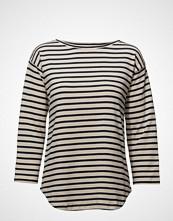 Mads Nørgaard Bretagne Organic Thilke T-shirts & Tops Long-sleeved Multi/mønstret MADS NØRGAARD