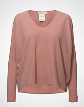 ÁERON Deep V-Neck Knit Pullover Strikket Genser Rosa ÁERON