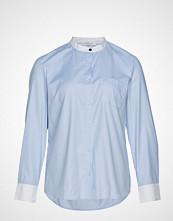 Violeta by Mango Butt D Cotton Shirt Langermet Skjorte Blå VIOLETA BY MANGO