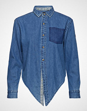 Superdry Denim Tie Shirt Langermet Skjorte Blå SUPERDRY