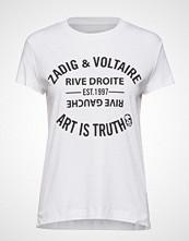 Zadig & Voltaire Walk Blason Perm Cotton T-Shirt T-shirts & Tops Short-sleeved Hvit ZADIG & VOLTAIRE
