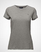 Gant Cott/Ela C-Neck Ss T-Shirt T-shirts & Tops Short-sleeved Grå GANT