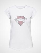 Zadig & Voltaire Skinny Strass Heart Ribbon T-Shirt Coton/ Modal